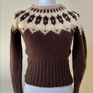 """Abercrombie & Fitch """"Sally"""" Fair Isle Wool Sweater"""